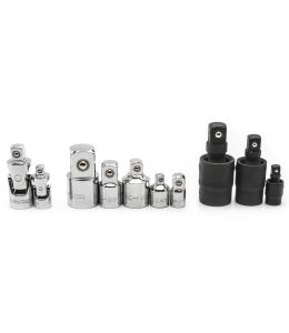 """1/4"""", 3/8"""" & 1/2""""Dr Universal Joint and Adapter Set  10Pc"""