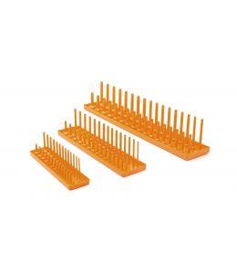"Gearwrench 3 Pc. 1/4"", 3/8"" & 1/2"" Drive Orange Metric Socket Storage Tray Set"