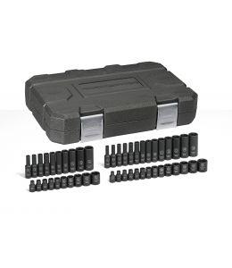 "48 Pc. 1/4"" Drive 6 Point Standard & Deep Impact SAE/Metric Socket Set"