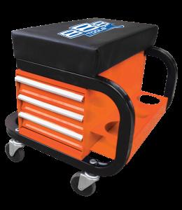 888 ROLLER SEAT WITH STORAGE  Orange