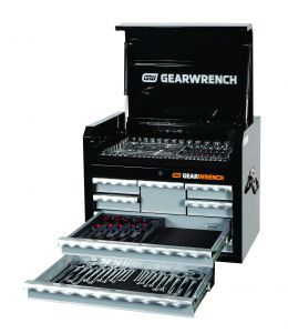 128Pc SAE/Metric Combination Tool Kit + Chest