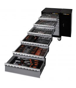 287Pc SAE/Metric Tool Kit + Trolley + Side Cabinet