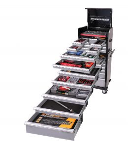 Gearwrench 501 Pc Combination Tool Kit + Tool Chest & Trolley