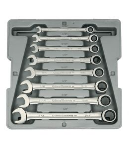 8 Pc. 12 Point Ratcheting Combination SAE Wrench Set