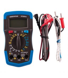 Manual Ranging Multimeter - W/ Temperature Probe