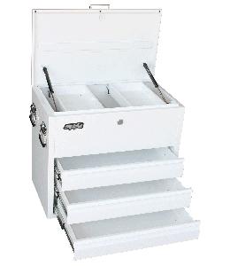 TOOL BOX WHITE HEAVY DUTY TRUCK 3 DRAWER
