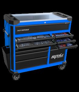 TOOLKIT 347PC METRIC/SAE BLUE/BLACK ROLLER CAB TOOL KIT