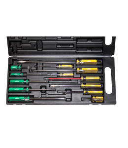 SCREWDRIVER SET 13PC PHILLIPS/SLOTTED PLASTIC CARR