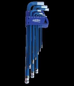 KEY SET 9PC METRIC BALL DRIVE HEX (BLUE)