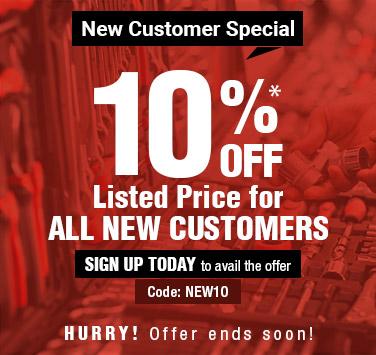 New Customers 10 Percent Off